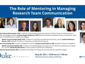 Virtual Research Town Hall: The Role of Mentoring in Managing Research Team Communication
